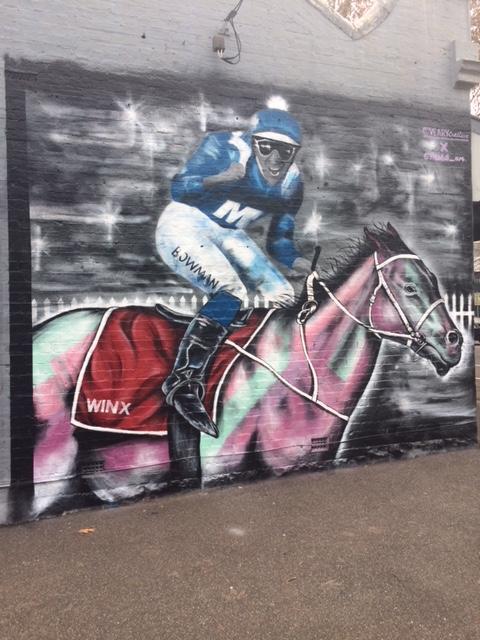 Horse rider jockey Winx